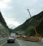 Construction in Kicking Horse Pass, B.C.