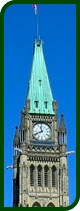 Peace tower leafed