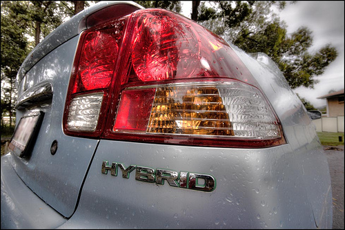 Rear end of a hybrid